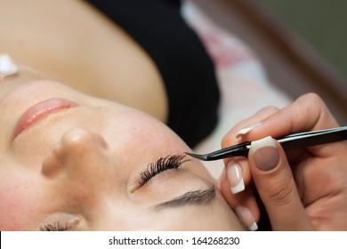 Eyelash extensions, eyelash correction, removal of lashes
