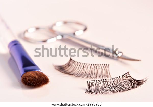 Eyelashes and Mascara with reflections