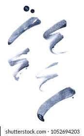 eyeliner swipes on white background