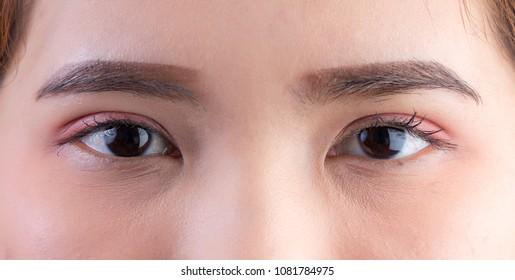 Eyes. Closeup of beautiful asian woman