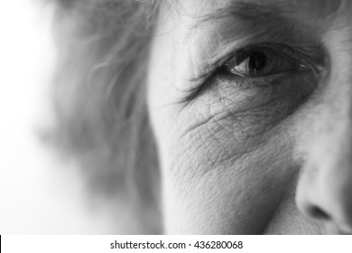 eyes of an elderly woman