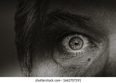 eyes in the shadow spying or voyeurism  concept