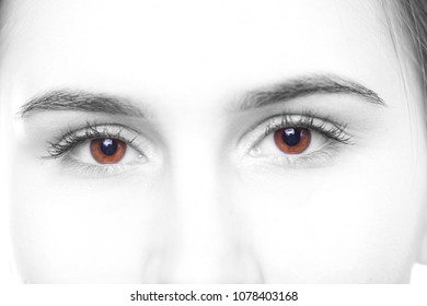 The eyes of a young girl