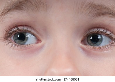 Eyes of a young girl.