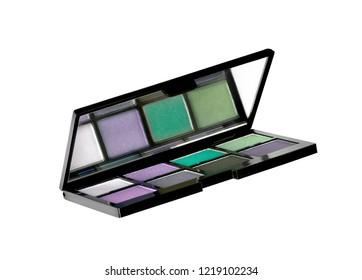 Eyeshadow kit isolated on white background
