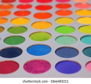 eyeshadow palette of various colors