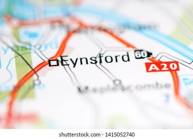 Eynsford. United Kingdom on a geography map
