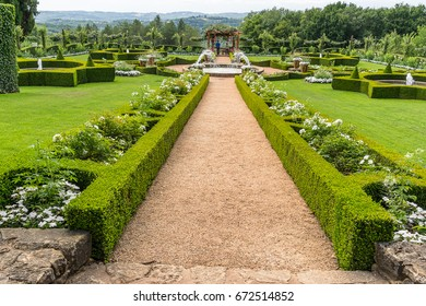 Eyrignac,France on 26th June 2017:The Manor d Eyrignac is a 17th-century manor house in Salignac in the Dordogne department of France,the grounds are based on 18th-century Italian Renaissance garden