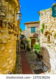 EZE VILLAGE, FRANCE - MAY 06, 2013: Ancient streets of the Eze village. Provence, France