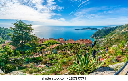 Eze village at french Riviera coast, Cote d'Azur, France