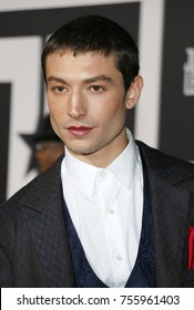 Ezra Miller at the World premiere of 'Justice League' held at the Dolby Theatre in Hollywood, USA on November 13, 2017.