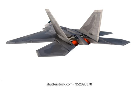 F -22 raptor , american military fighter plane.Jet plane. Fly in clouds.