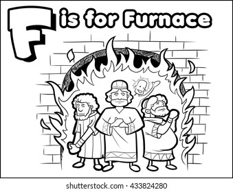 F is for Furnace Coloring Activity
