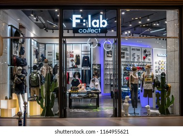 F : lab collect shop  at Terminal 21, Bangkok, Thailand, May 7, 2018 : Multi-lifestyle fashion store for clothing and accessories. Window display and interior.