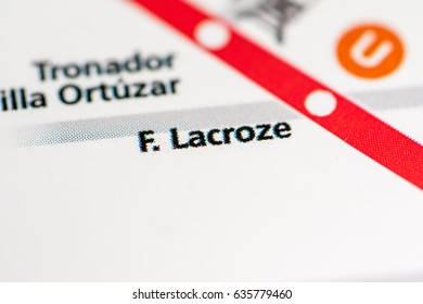 F. Lacroze Station. Buenos Aires Metro map.