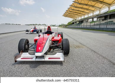 F1 circuit ,f1 car with empty driver