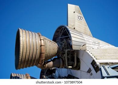 F-1 Engine seen on Saturn V display at NASA Stennis visitors center