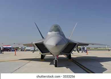 F-22 Raptor On The Ground, Front View