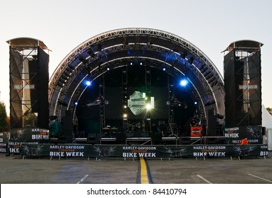 FAAK, AUSTRIA - SEPT 10: The main stage of the European Bike Week on September 10, 2011 in Faak, Austria. The festival is the largest Biker Event in Europe.