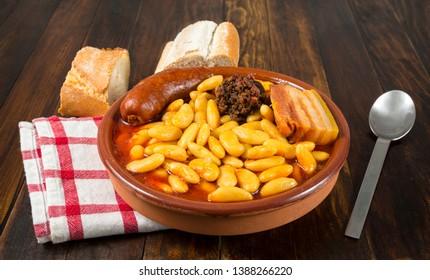 Fabada Asturiana, typical food from Asturias