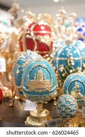 Faberge Egg, Russia souvenirs sell in souvenir shop