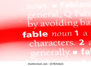 fable word in a dictionary. fable concept