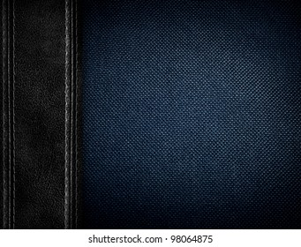 fabric background with leather
