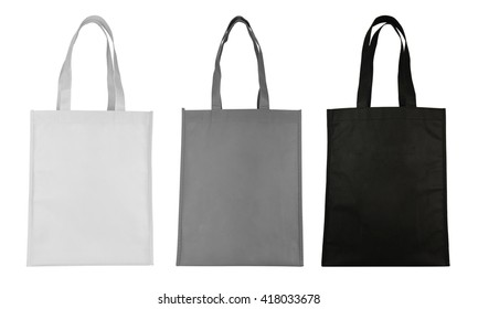 fabric bag isolated on white background