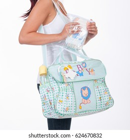 Fabric bag for mom to keep baby accessories