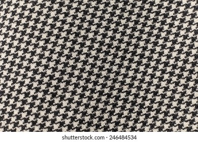 Fabric with black and white ornaments