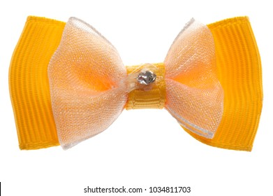 fabric bow for clothes isolated on white