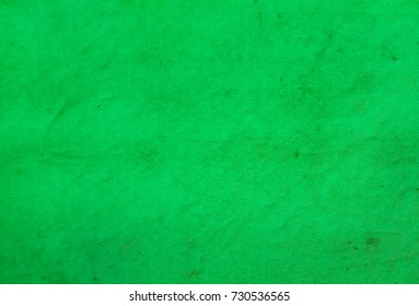 Fabric and Canvas and Plastic cloth  / surface and texture / black and white background /abstract green textured