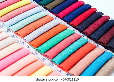 Fabric color card/Textiles and clothing industry background material
