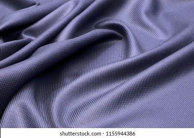 Fabric costume, textured, dark blue of wool.