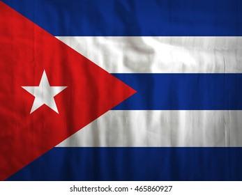 Fabric Cuba flag background texture
