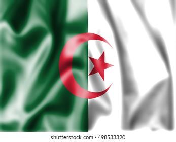 Fabric Flag of Algeria
