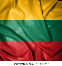 Fabric Flag of Lithuania