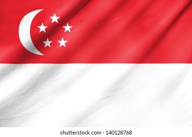 Fabric Flag of Singapore