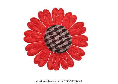 fabric flower for clothes isolated on white