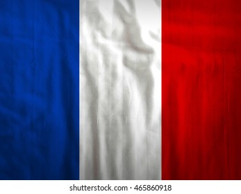 Fabric France flag background texture