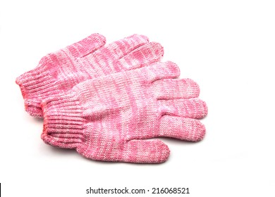 fabric gloves isolated on white background.