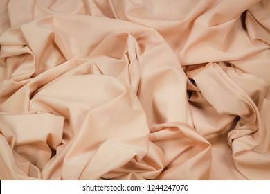 Fabric Lycra beige flexible