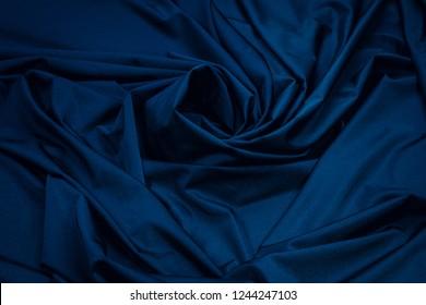 Fabric Lycra blue flexible