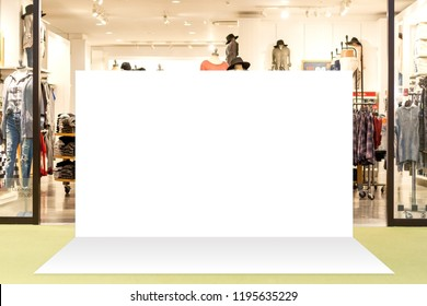 Fabric mock up unit for advertising banner media display backdrop,  Empty white background.