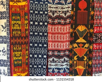 Fabric Natural Color with Traditional Pattern From Sumba Indonesia