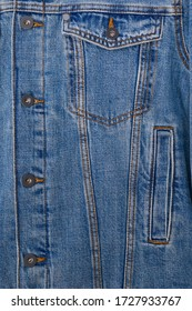 fabric pattern texture of denim or blue jacket jeans ,pocket texture