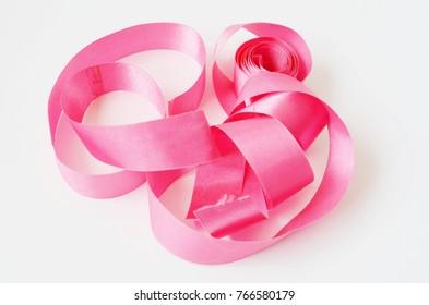 Fabric ribbon isolate on white background