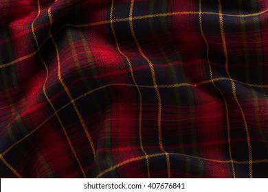 Fabric, Scottish cage. Texture, background