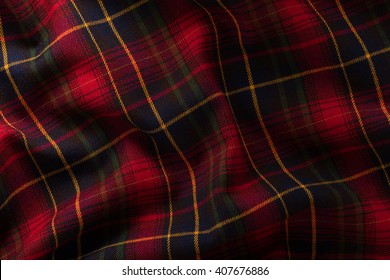Fabric, Scottish cage. Texture, background