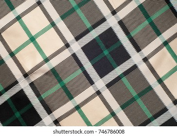 The fabric in the Scottish style.